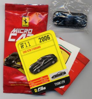 Micro Cars FERRARI 599 GTB Fiorano 11 card sticker bag bpz 1 100 MIB
