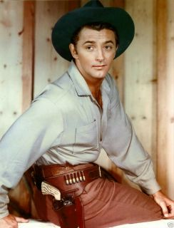 Robert Mitchum Color Publicity Photo Hollywood 1940s Movie Star Actor
