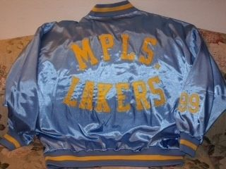MITCHELL & NESS MINNEAPOLIS LAKERS GEORGE MIKAN SATIN JACKET SIZE 56