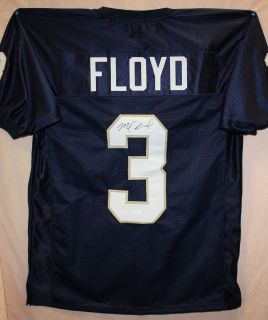 Michael Floyd Autographed Notre Dame Irish Blue Jersey Authenticated