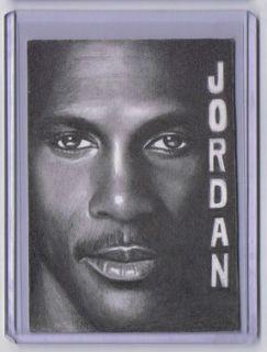 2011 ACEO Sketch Card MICHAEL JORDAN Chicago Bulls 1/1