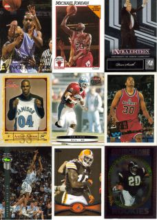 NORTH CAROLINA TAR HEELS CARD LOT MICHAEL JORDAN DEAN SMITH VINCE