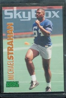 New York Giants Michael Strahan Skybox Rookie FB Card