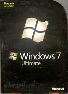 Microsoft Windows 7 Ultimate Upgrade Retail Box GLC 00184 882224885652