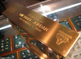 Jordan 1994 Commemorative Clock Presented to George Mikan