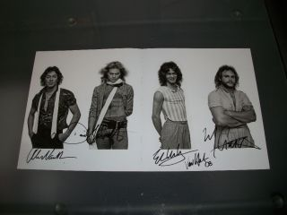 Signed Poster Eddie David Lee Roth Alex Michael Anthony Real