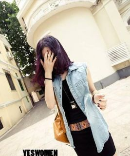 Womens Jeans Sleeveles Vest Smooth Jean Cool Tomboy Middlesex Coat