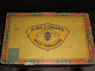 Vintage 100 Cigar Box King Edward The Seventh Mild Tobaccos