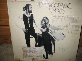 MICK FLEETWOOD AUTOGRAPHED   FLEETWOOD MAC Rumours LP WMMR Radio Play