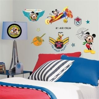 Mickey Mouse Pilot Wall Stickers 31 Decals Disney Clubhouse Room Decor