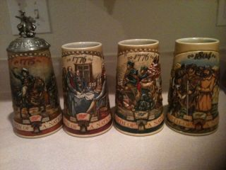 Miller High Life Beer Stein Birth of A Nation Collector Series 1 4