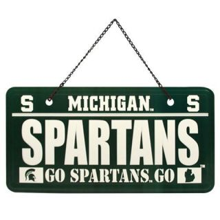 Michigan State Spartans License Plate Sign Green