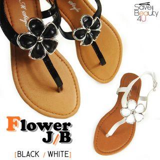 Girls Cute Flip Flops Sandal Flower Kids Flat Sandals Flower Jr