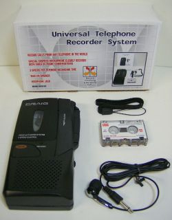 Calls Voice Activated Micro Cassette Tape Recorder 2 Speed New