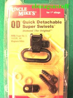 Uncle Mike s Complete SLING SWIVELS SET For RUGER 10 22 CARBINE Black