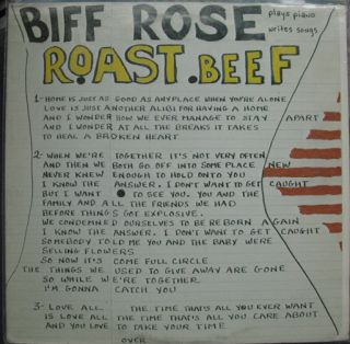 Biff Rose Roast Beef Private Press LP Mike Nesmith Prod