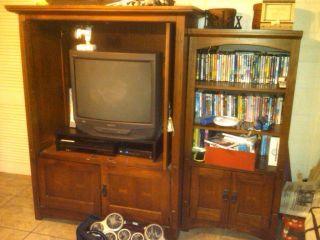 Wall Unit TV Entertainment Center Good Shape not Oversized