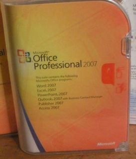 Microsoft Office 2007 Professional Pro Full VERSION Retail Great Price