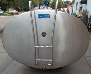 1500 Gallon Delaval EC1500 Stainless Steel Bulk Milk Tank