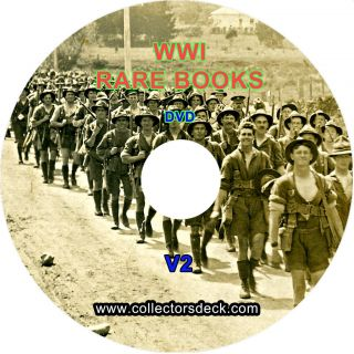 VIntage RARE World War 1 WW1 Books Military History Records etc DVD V2