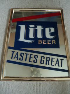 Miller Lite Beer Miller Lite Beer Tastes Great Bar Mirror 20X26