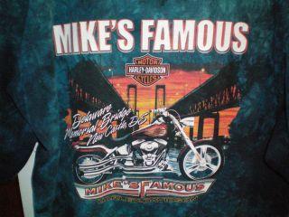 Davidson T Shirt Mikes Famous Harley Shop New Castle Delaware