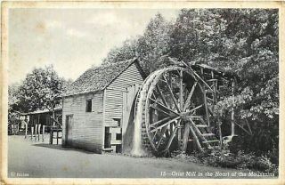 NC Bryson City Grist Mill Mountains R38043
