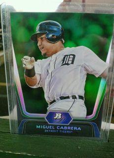 Miguel Cabrera 2012 Bowman Emerald Platinum Card 6