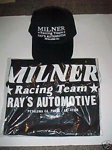 New Black John Milner drag Racing Team Lot T Shirt M L XL 2X Baseball
