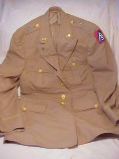 WWII US Army Tropical BG General Officer Uniform Coat Jacket Tunic