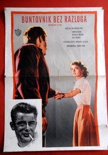 Cause James Dean Natalie Wood Sal Mineo 1955 EXYU Movie Poster