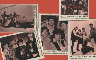Monkees Trading Gum Cards Davy Jones Mike Nesmith Mickey Dolenz