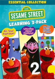 Sesame Street Essential Collection Learning DVD, 2011, 3 Disc Set