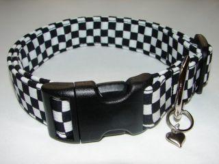 Charming NASCAR Checkered Flag Dog Collars Mini
