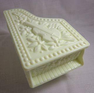 Milk Glass Piano Trinket Box