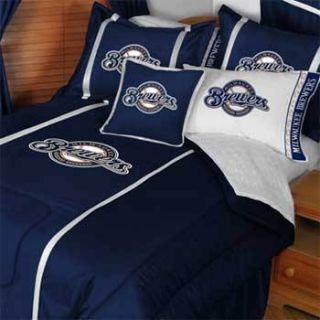 MLB Milwaukee Brewers Full Double Comforter Bedding Set