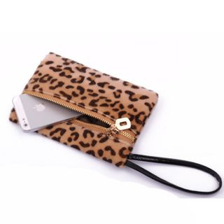 Luxury Womens Clutch Purse Bag Faux Wool Mini Handbag F