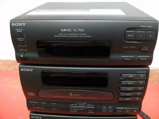 Sony MHC C70 Mini Hi Fi Stereo Components System 5 Disk Player