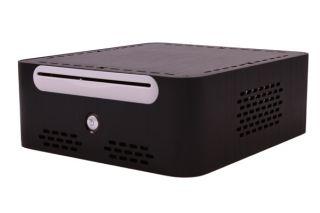 Black Habey EMC 800BL Aluminum Slim Mini ITX Case