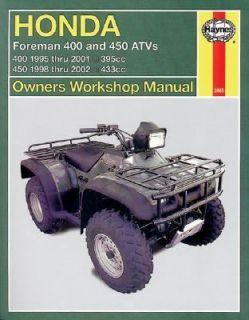 Honda Foreman Trx400 450 Shaft Drive Atvs 1995 Thru 2002 by Alan