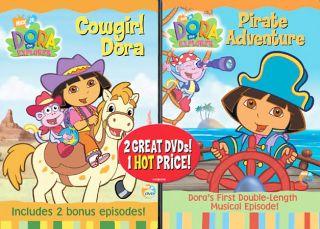 Dora the Explorer   Pirate Adventure Cowgirl Dora DVD, 2007, 2 Disc