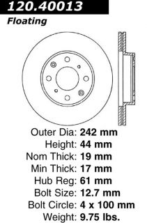 Centric Parts 121.40013 Disc Brake Rotor