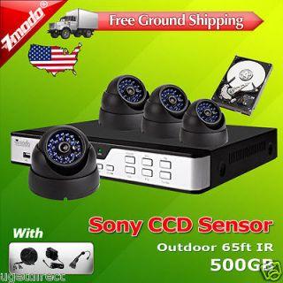 CH DVR Outdoor CCD IR CCTV Home Surveillance Security Camera System