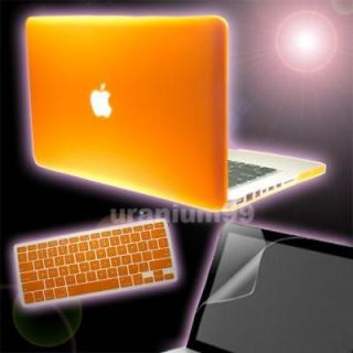 15 15.4 MacBook PRO Matte Hard Case ORANGE + Keyboard Cover + Screen
