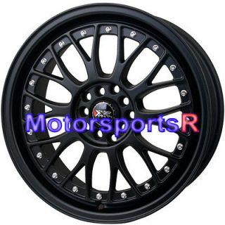 17 17x7 XXR 521 Flat Black Wheels Rims 5x100 5x4.5 5x114.3 ET +40