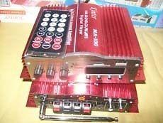 channel MA100 audio amplifier + remote control + FM