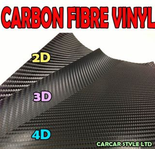2D / 3D / 4D】BLACK COLOUR【Bubble Free Carbon Fibre Vinyl】Wrap