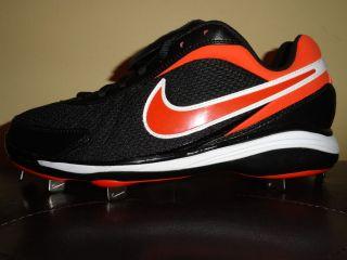 Mens Nike Air Zoom Coop Baseball Cleats Size 12.5 or 13.5 Orange/Black