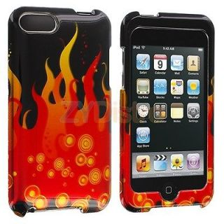 Red Black Flame New Hard Case Cover for iPod Touch 3rd Gen 3G 2nd