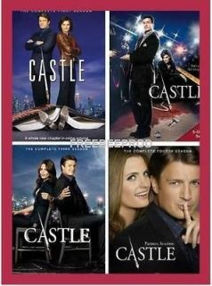 CASTLE DVD SET. SEASONS 1,2,3,4. THE COMPLETE SEASON 1 4 NEW FREE SHIP